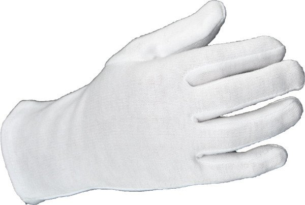 Cotton gloves white