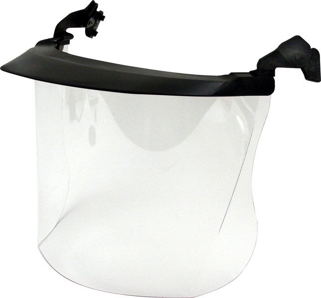 Polycarbonate visor for Voss and Peltor helmets