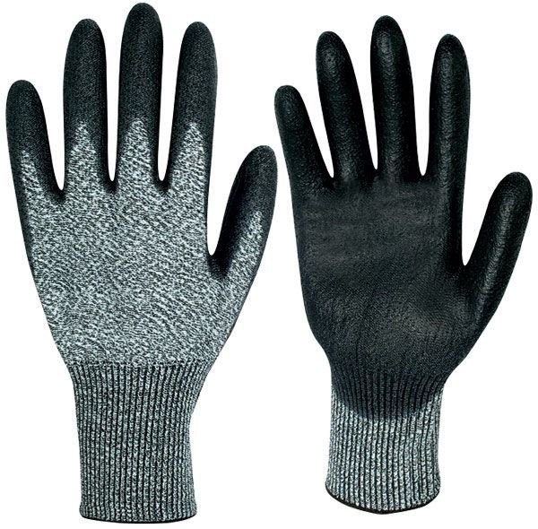 Cut protection glove fine knitting Akron HDPE grau