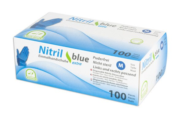 Disposable gloves Nitrile blue, powder-free,
